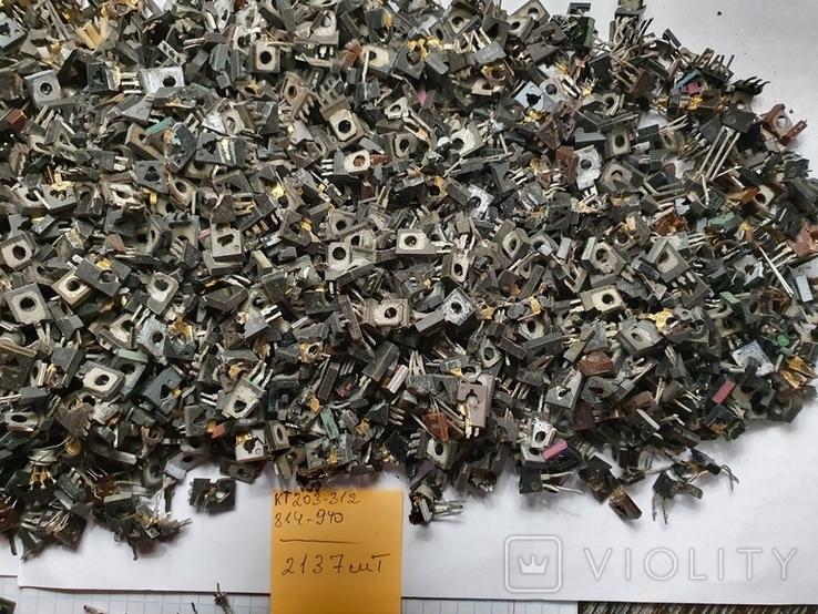 Транзисторы 814 ,940 , блошки, позолота, фото №5