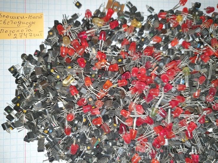 Транзисторы 814 ,940 , блошки, позолота, фото №6