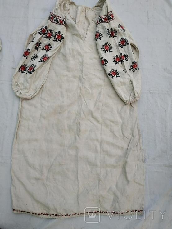 Сорочка весільна святкова конопляна полотняна Миргородська , женская старинная рубаха, фото №3