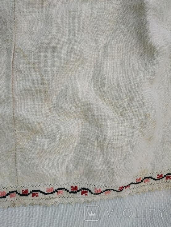 Сорочка весільна святкова конопляна полотняна Миргородська , женская старинная рубаха, фото №4