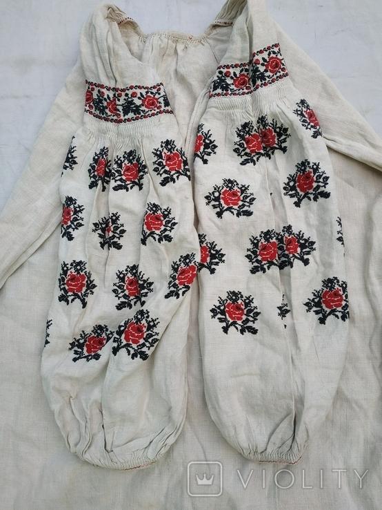 Сорочка весільна святкова конопляна полотняна Миргородська , женская старинная рубаха, фото №2