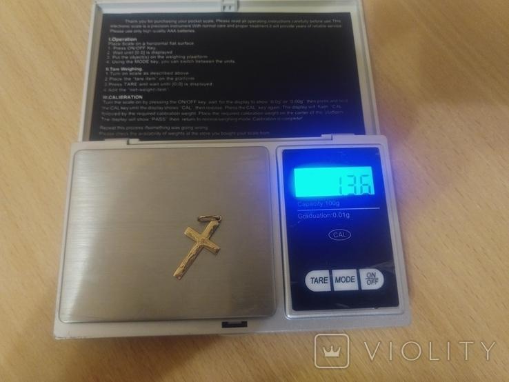 Крест золото 585 пробы, фото №5