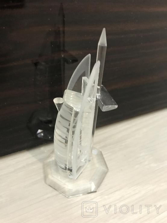 Настольный сувенир, Дубай, стекло, 12см б/у, фото №3