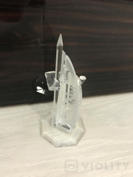 Настольный сувенир, Дубай, стекло, 12см б/у, фото №4