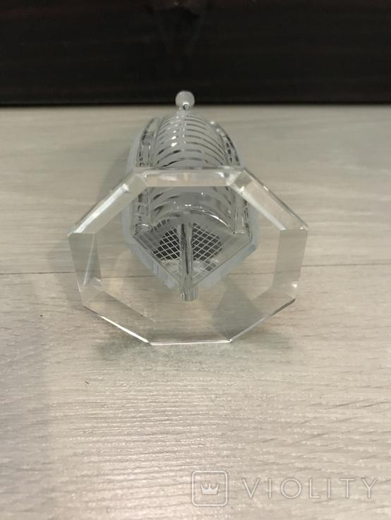 Настольный сувенир, Дубай, стекло, 12см б/у, фото №6