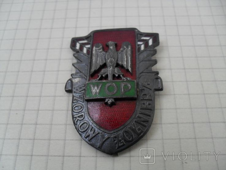 """Погранвойска Польша Знак Отличный пограничник """" Wzorowy Zolnierz WOP"""", фото №2"""