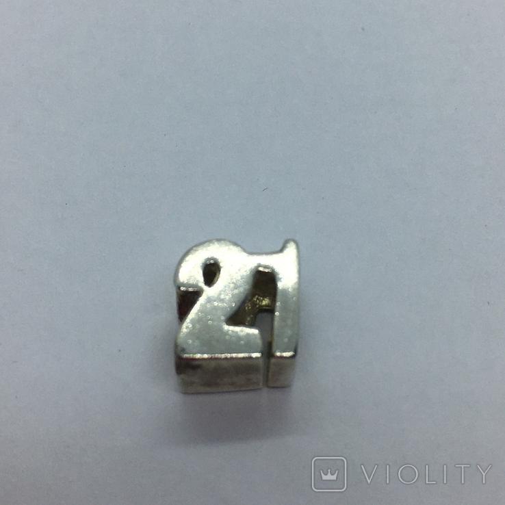Подвес серебро, фото №2
