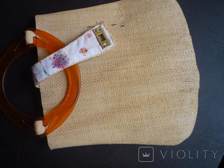 Сумочка плетённая, фото №5