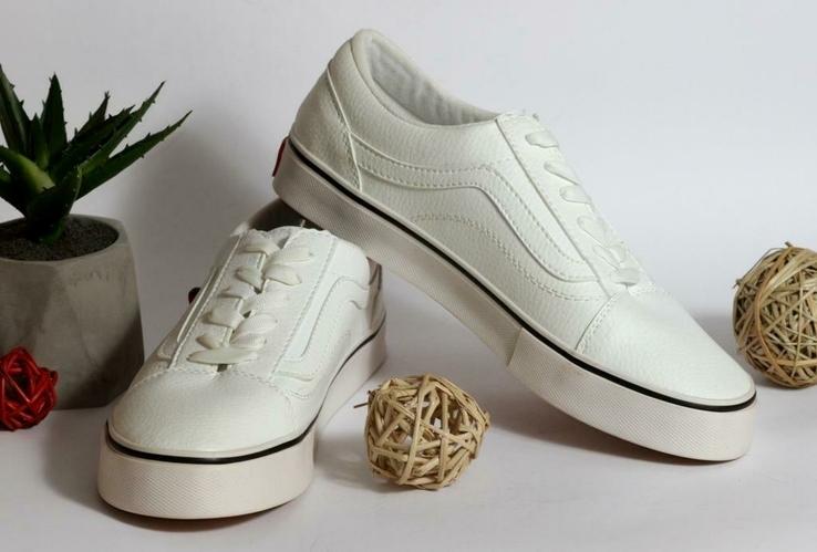 Кеды Vanso белые. Натуральная кожа, фото №7