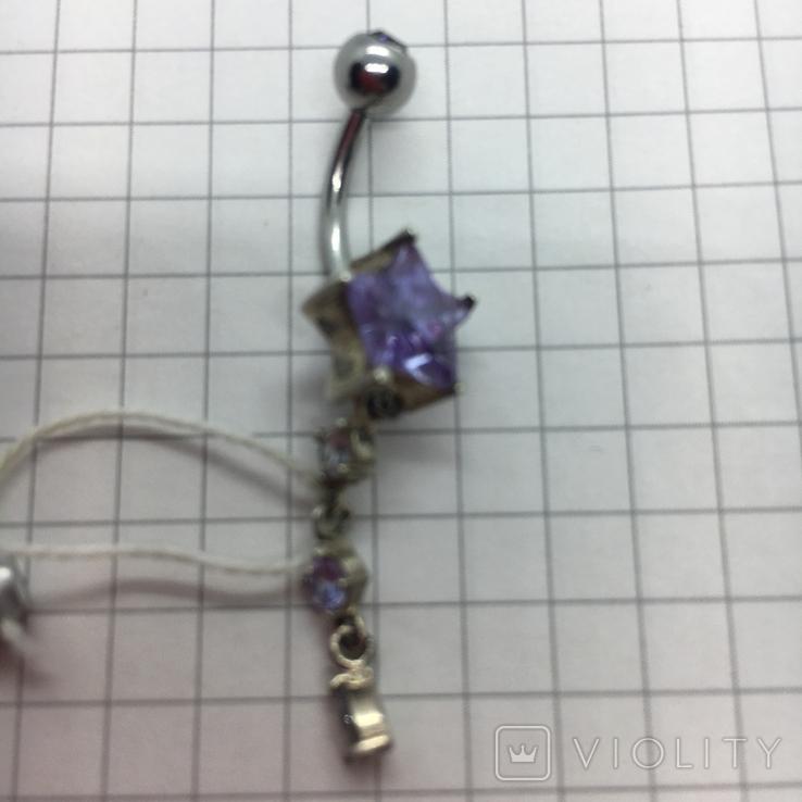 Пирсинг серебро, фото №3