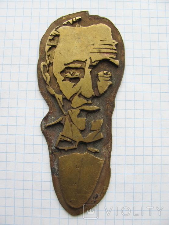 Накладка на книгу (латунь или бронза), фото №2
