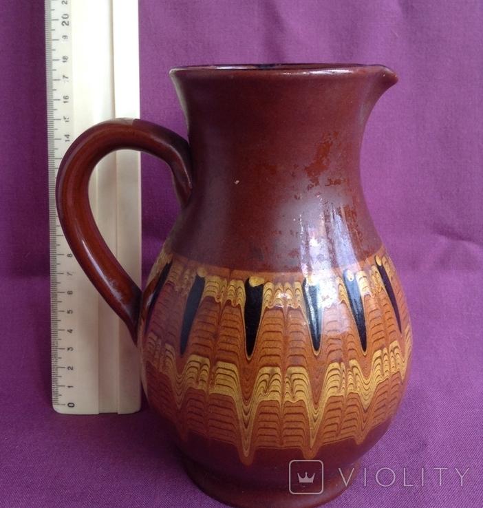 Глечик и чашки. Комплект. Керамика., фото №5