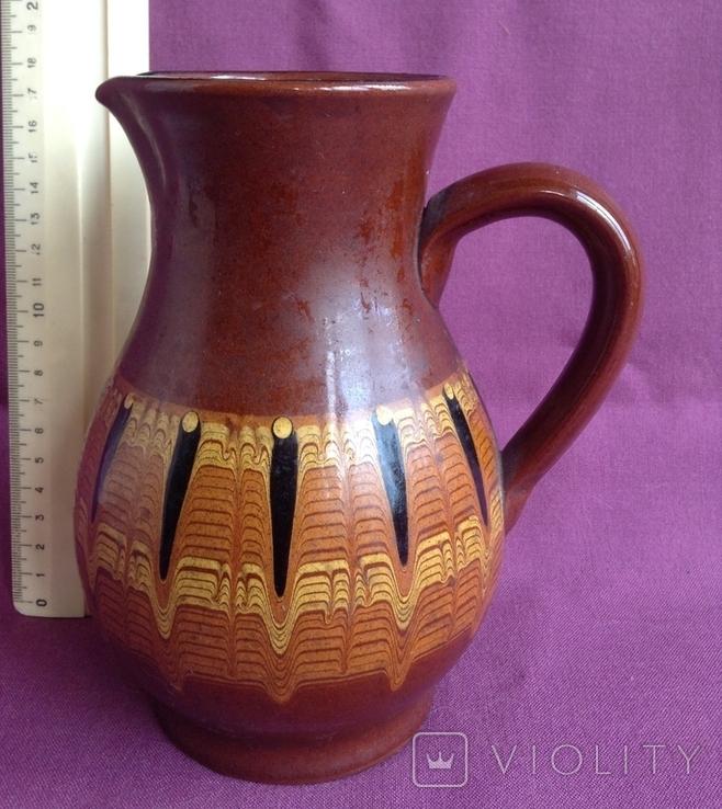 Глечик и чашки. Комплект. Керамика., фото №6