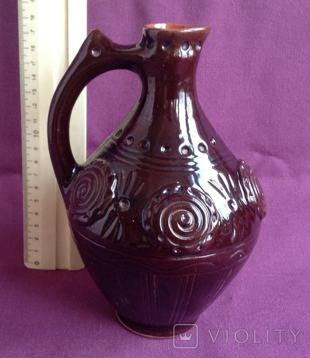 Глечик для вина Кругленький. Кераміка., фото №3