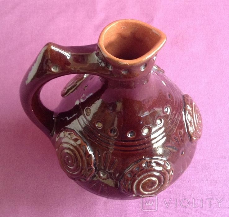 Глечик для вина Кругленький. Кераміка., фото №4
