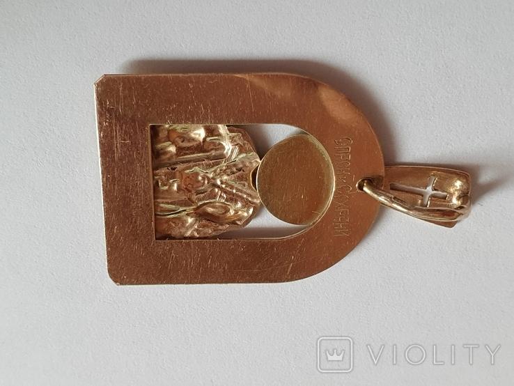 Нательная иконка. Святой Николай. Золото 585 проба. Вес 4.2 г., фото №5