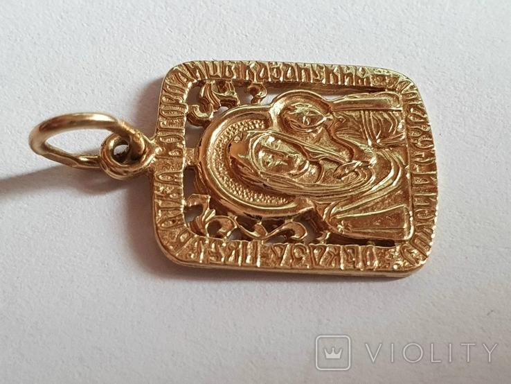 Нательная иконка. Золото 585 проба. Вес 1.5 г., фото №4