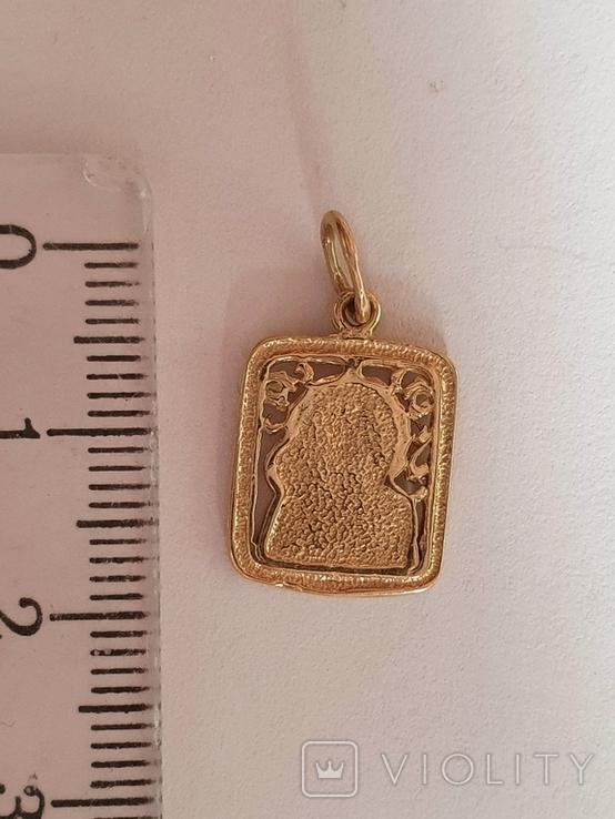 Нательная иконка. Золото 585 проба. Вес 1.5 г., фото №7