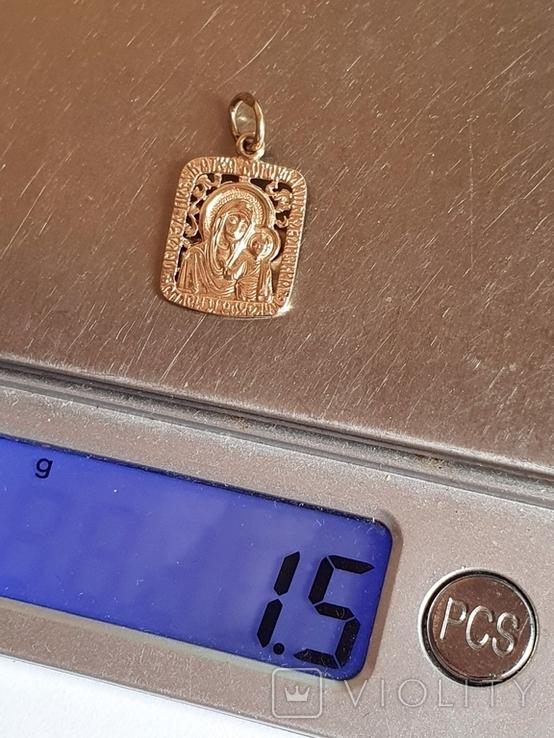 Нательная иконка. Золото 585 проба. Вес 1.5 г., фото №10