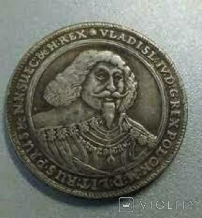 Талер 1637 года Владислав 4 Польша копия, фото №2