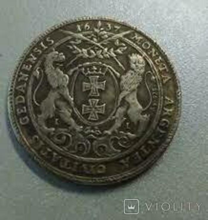 Талер 1637 года Владислав 4 Польша копия, фото №3