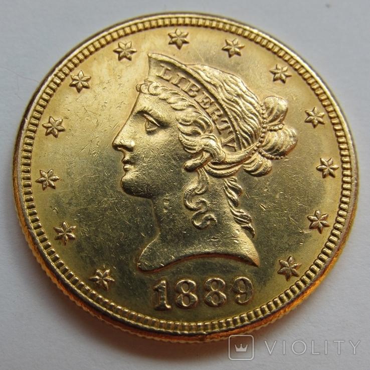 10 долларов 1889 г. США, фото №2