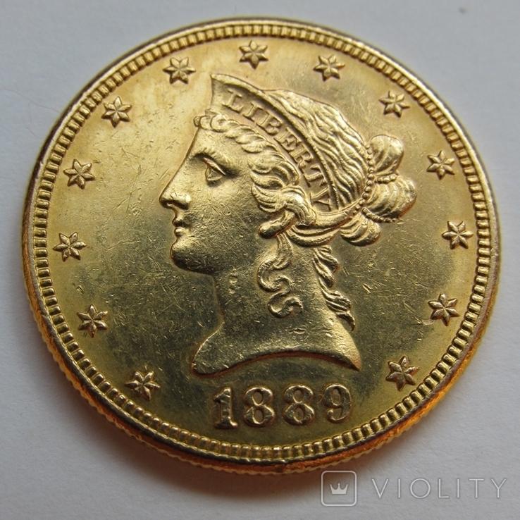 10 долларов 1889 г. США, фото №4