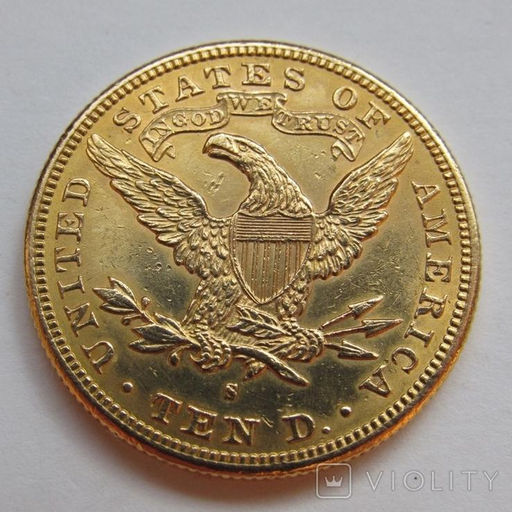 10 долларов 1889 г. США, фото №5