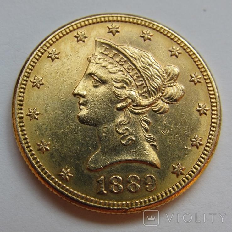 10 долларов 1889 г. США, фото №6