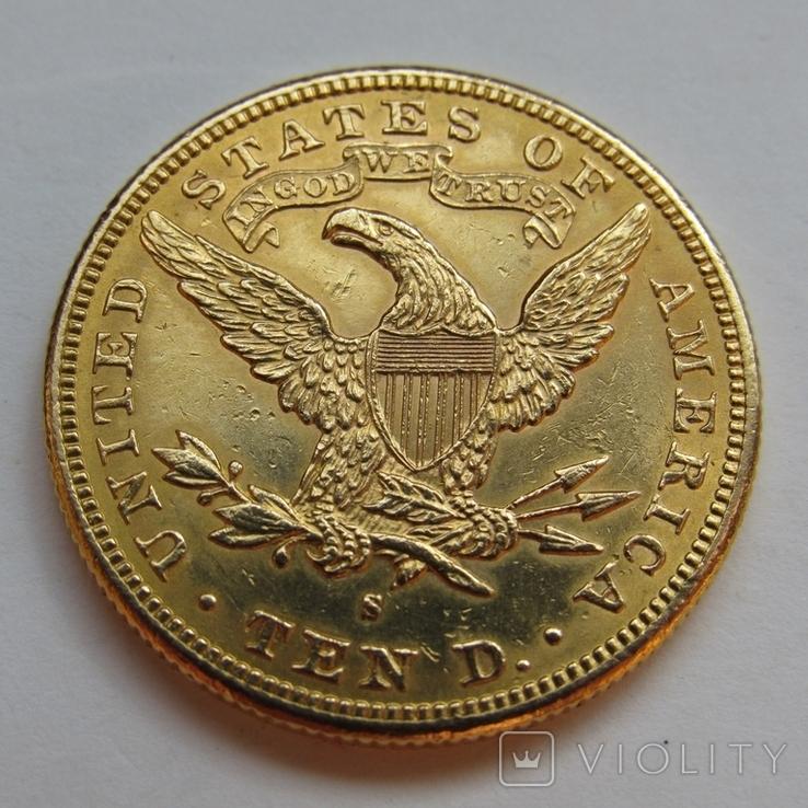 10 долларов 1889 г. США, фото №7