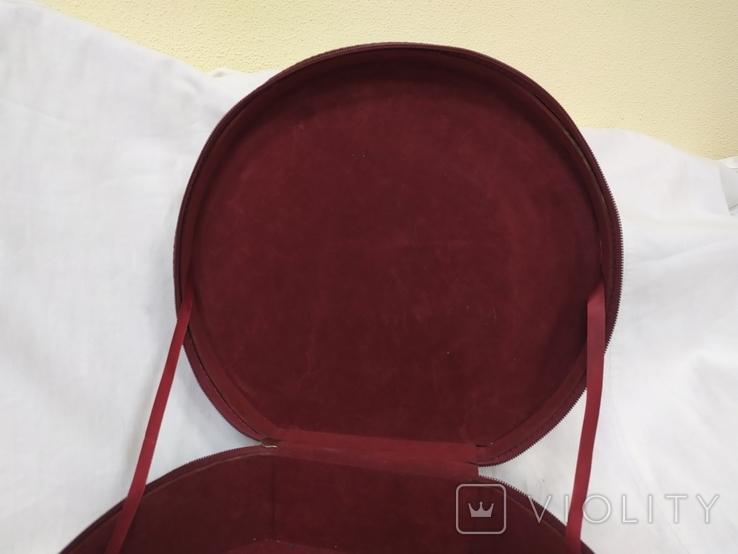 Сумочка каркасная дорожная или для хранения мелочей, бижутерии. 28х12х26см, фото №5