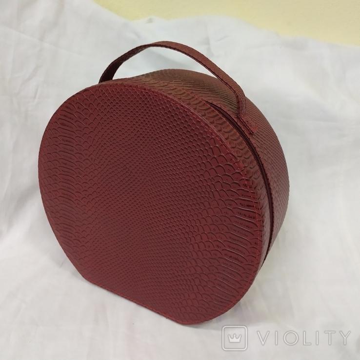 Сумочка каркасная дорожная или для хранения мелочей, бижутерии. 28х12х26см, фото №7