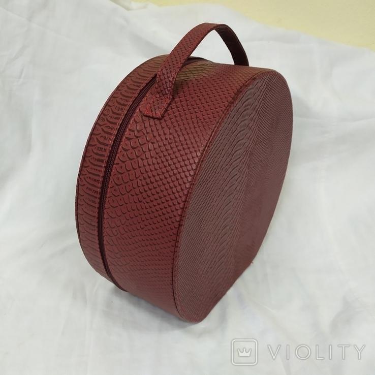Сумочка каркасная дорожная или для хранения мелочей, бижутерии. 28х12х26см, фото №2