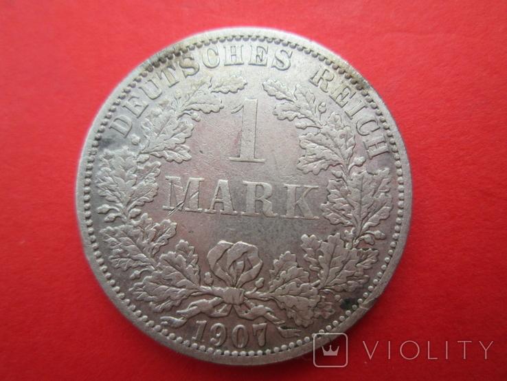 Германия 1 марка 1907 год А, фото №2