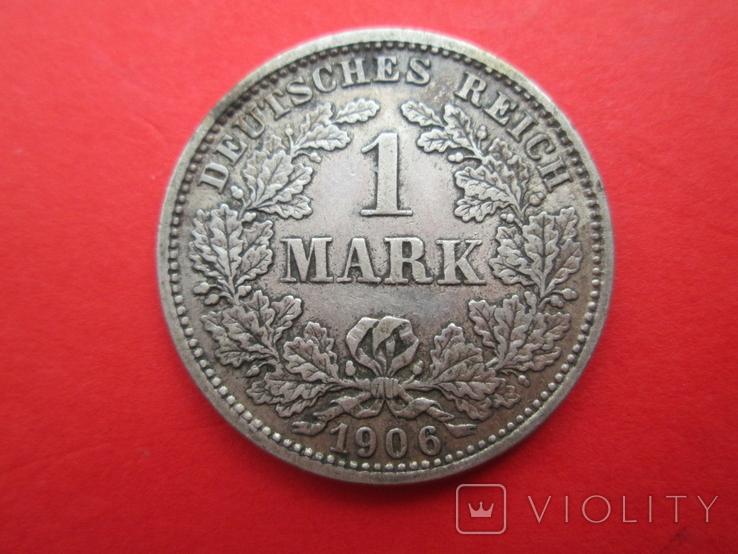 Германия 1 марка 1906 год D, фото №2