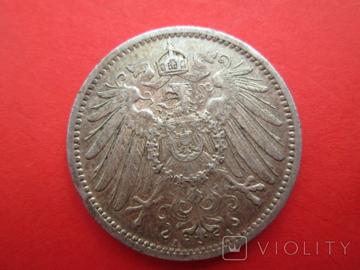 Германия 1 марка 1908 год A, фото №3