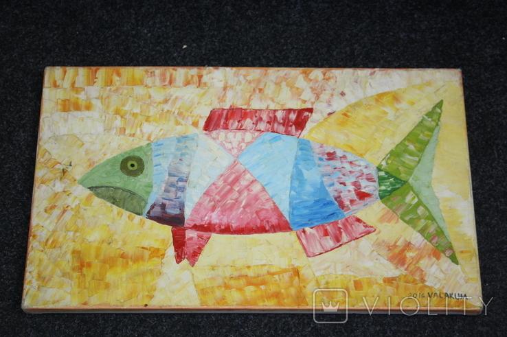 Картина рыба 50х30, фото №3