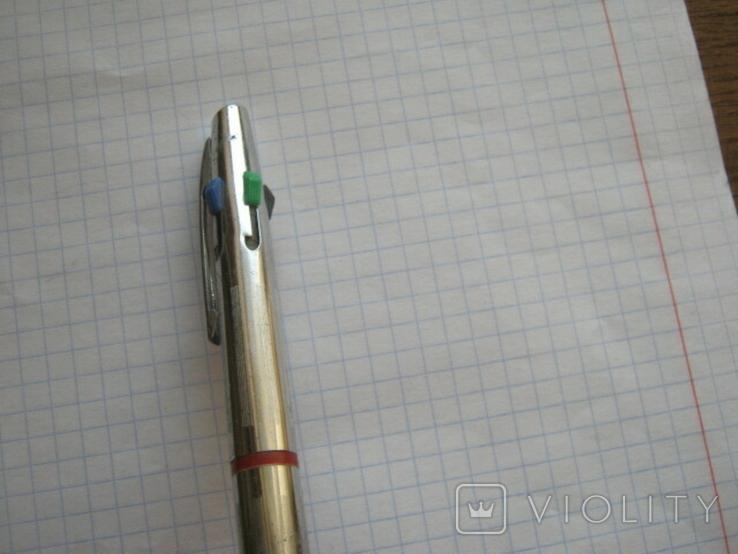 Ручка шариковая на четыре цвета времен СССР, фото №8