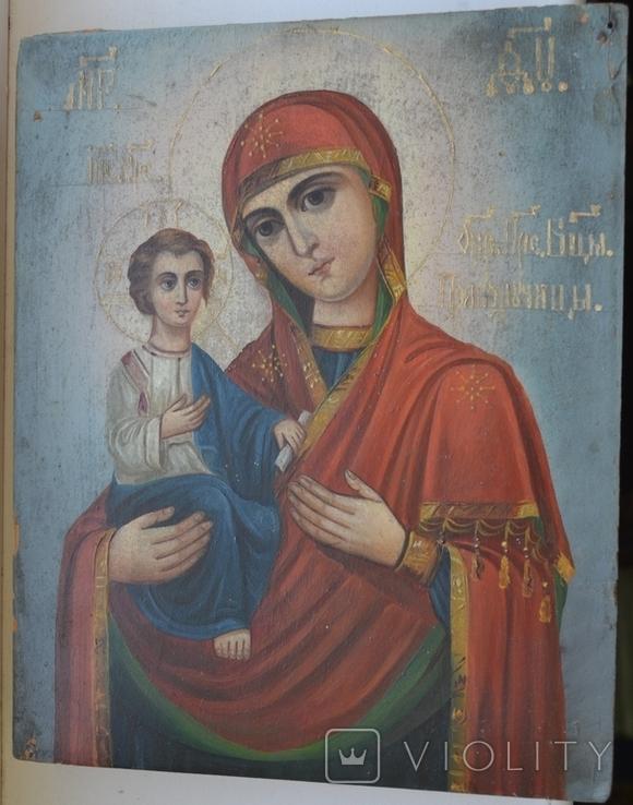 Икона Пресвятой Богородицы. Праворучица, фото №2