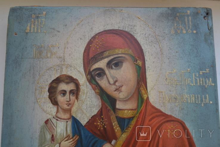 Икона Пресвятой Богородицы. Праворучица, фото №3