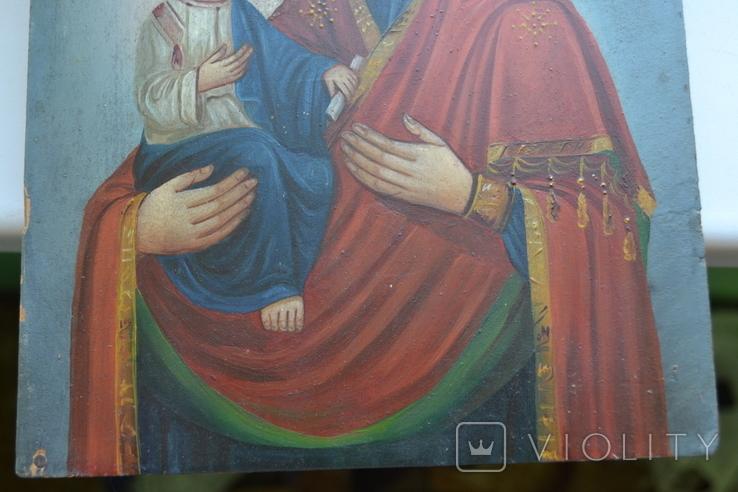 Икона Пресвятой Богородицы. Праворучица, фото №5