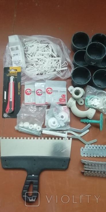 Крепёжи, инструмент и др. для ремонта, новое, фото №3