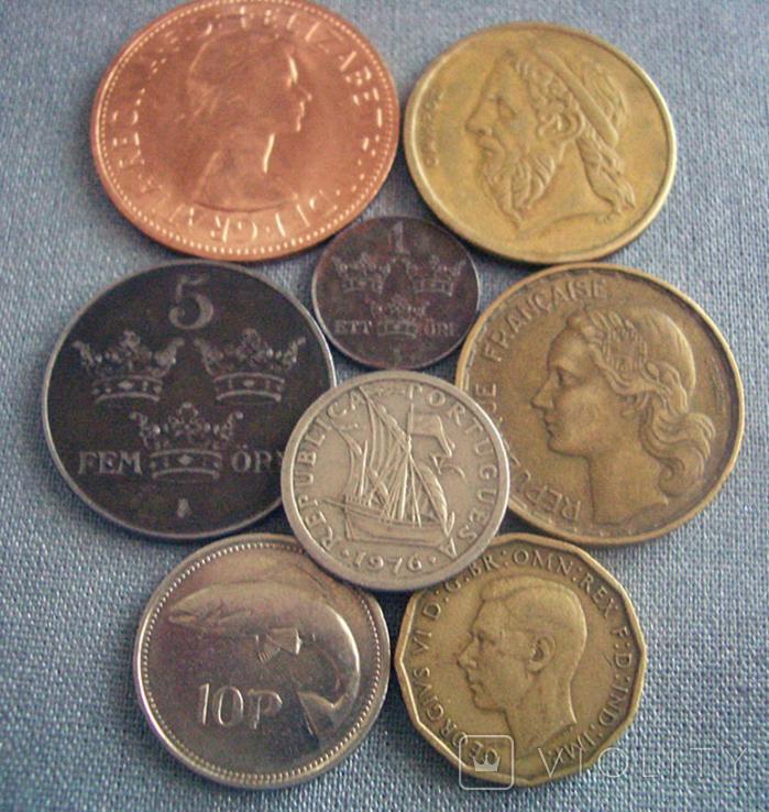 Монеты стран Европы, 8 монет, фото №2