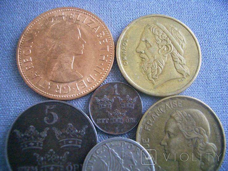 Монеты стран Европы, 8 монет, фото №3
