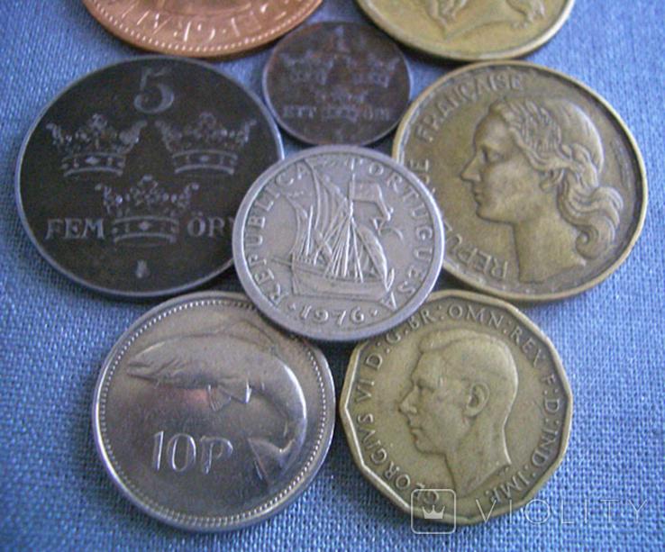Монеты стран Европы, 8 монет, фото №4