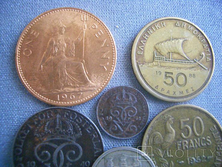 Монеты стран Европы, 8 монет, фото №7