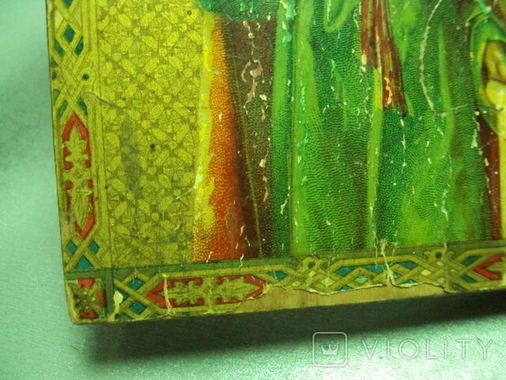 Икона святой пророк Илья дерево литография 18 х 14 см толщина 2 см, фото №9