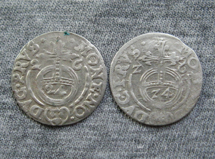 1/24 талера 1626-Z6 г. Георг Вильгельм. Пруссия ( 2 штуки )., фото №2