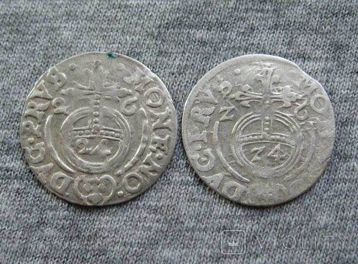1/24 талера 1626-Z6 г. Георг Вильгельм. Пруссия ( 2 штуки )., фото №4