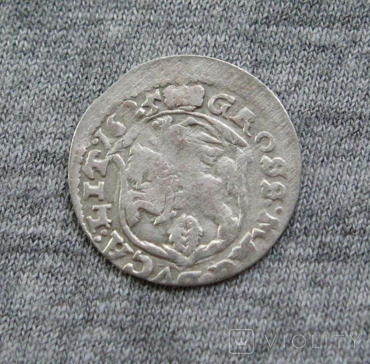 Литовский грош 1625 года. Сиг. ІІІ Ваза ( без обводки )., фото №5